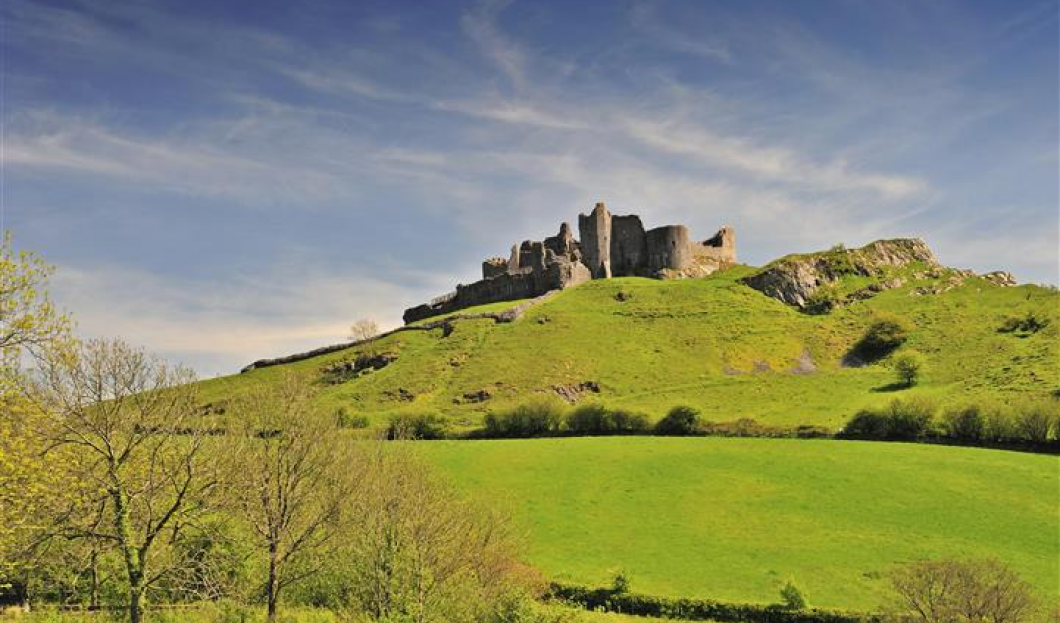 Château CarregCennen, Pays de Galles.